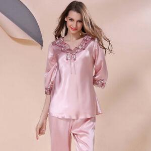 Silk nightgown long sleeve
